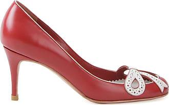 Sarah Chofakian Pumps con tacco medio - Di colore rosso