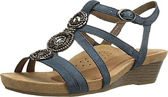 Rockport Womens Hannah Platform Sandal, Blue, 10 W US
