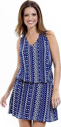 101 Resort Wear Vestido 101 Resort Wear Estampado Listrado Azul 3e78a15aad