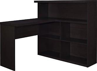 Dorel Home Products Ameriwood Home Trilium Way Sit/Stand L-Shaped Desk, Espresso