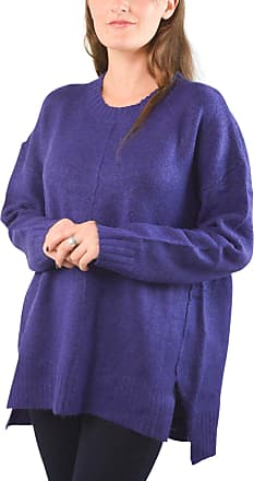 White Label Marks & Spencer Womens Relaxed Supersoft M&S Lightweight Chunky Round Neck Jumper Purple Size XL 16 18 20