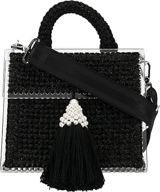 0711 tassel embellished mini tote bag - Black