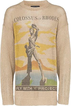 Y / Project Suéter Colossus de tricô - Neutro