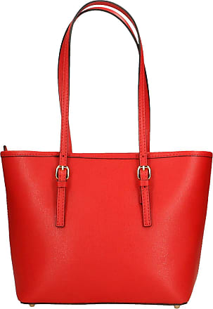 Chicca Borse Aren - Womans shoulder bag in genuine leather made in italy - 34x23x12 Cm