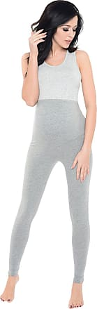 Purpless Maternity Pregnancy Leggings Belly Support Stretchy Long Over Bump Cotton Trousers for Pregnant Women 1025 (18, Gray2 Melange)
