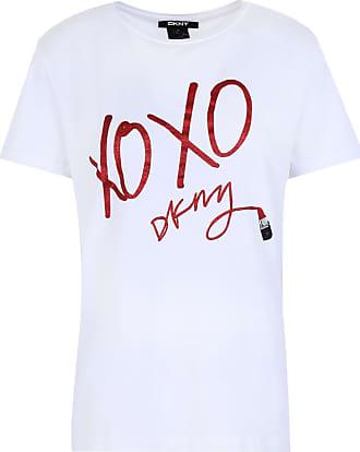 DKNY FEMME T-shirt à encolure ras-du-cou BNWT-Taille M-Couleur Bordeaux