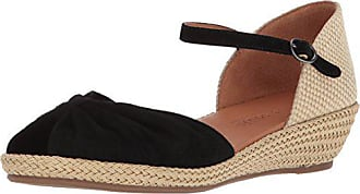 Gentle Souls by Kenneth Cole Womens Lucille Low Wedge Espadrille Sandal Sandal, black, 7 M US
