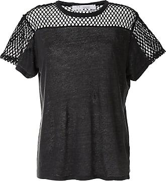 Iro Camiseta mangas curtas com recorte de mesh - Preto
