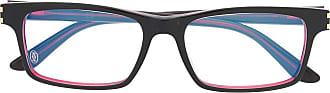 Cartier Armação de óculos com logo gravado - Preto
