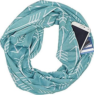 iShine Infinity Scarf with Zipper Pocket, Solid Color Soft Comfortable Warm Infinity Scarf with Hidden Zipper Pocket for Unisex