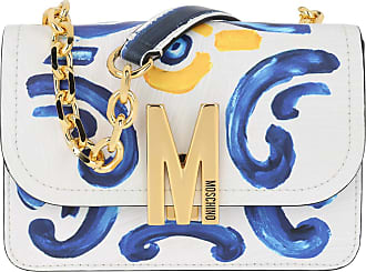 Moschino Cross Body Bags - Chain Crossbody Bag Fantasy Print Blue - colorful - Cross Body Bags for ladies