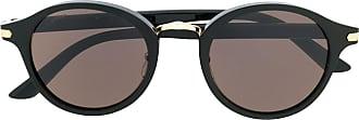 Cartier Óculos de sol redondo - Preto