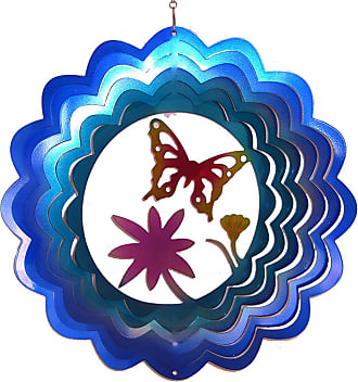 Great World Company Butterfly with Flower Zephyr Spiral Wind Spinner - 83008