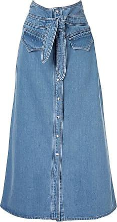 Nanushka Saia longa jeans - Azul