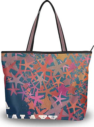 Lorona Galaxy Of Starfish Canvas Shoulder Hand Bag Large Capacity Tote Bag