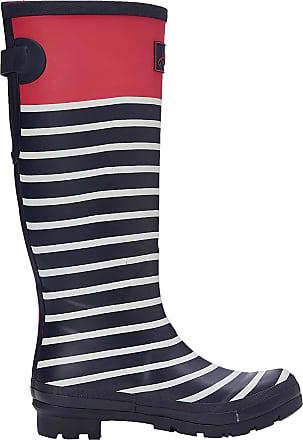 Joules Womens Welly Print Wellington Boots, Blue (Pink Engineered Stripe Pnkengstrp), 4 UK 37 EU