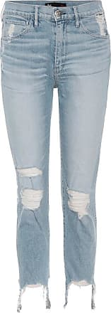 3x1 Cropped Jeans W3 aus Stretch-Baumwolle