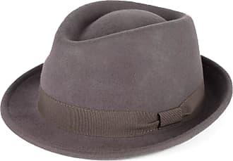 Hat To Socks Elegant Grey Wool Trilby Hat Waterproof & Crushable Handmade in Italy (Grey, 54cm)