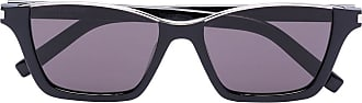 Saint Laurent Eyewear Óculos de sol retangular Dylan - Preto