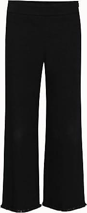 Akris Cropped Japanese Denim Pants with Fringe