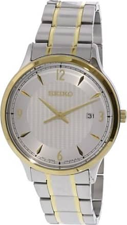 Seiko Mens SGEH82 Silver Stainless-Steel Japanese Quartz Dress Watch