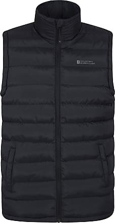 Mountain Warehouse Seasons Mens Padded Gilet - Water Resistant Gilet, Body Warmer, Lightweight Jacket, Easy to Store Coat - for Winter Travelling, Walking Black XXL