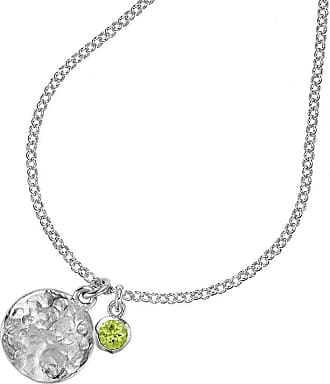 Dower & Hall Hammered Disc & 5mm Peridot Twinkle Pendant