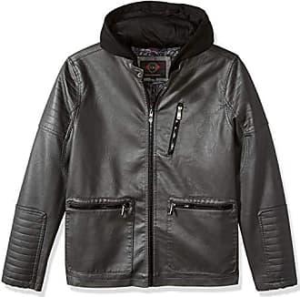 Urban Republic Mens Faux Leather Jacket, darkcharcoal, XL