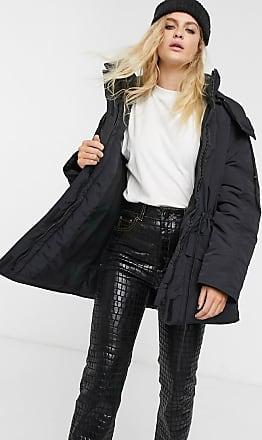Weekday Zimbra padded jacket in black