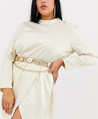 Asos Curve ASOS DESIGN Curve coin multi chain waist and hip belt-Gold