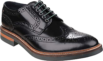Base London Woburn Hi Shine Black Leather New Mens Formal Brogue Casual Shoes Boots-12
