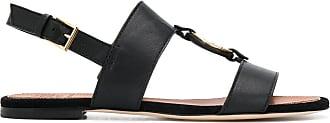 Tory Burch Miller logo sandals - Black
