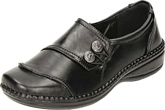 Cushion-Walk Cushioned Flexible Lightweight Slip On Shoes Black UK 3/36