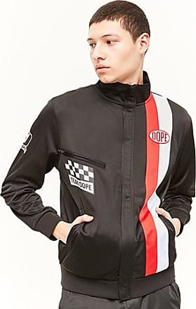 21 Men Dope Striped Track Jacket at Forever 21 Black