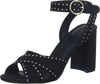 Pimkie Womens Crs19 Crosstuds Open Toe Sandals, Black (Noir 899a08), 5/5.5 UK