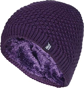 Heat Holders 1 Ladies Genuine Heatweaver Thermal Winter Warm HAT 5 Variations - Alesund, Nora, Solna, Areden, Lund (Purple - Nora)