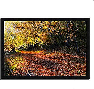 Tangletown Fine Art Auburn Trail Framed Art, Yellow, Orange, Brown
