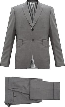 Thom Browne Single-breasted Wool-twill Suit And Tie - Mens - Grey