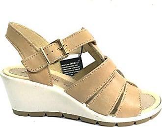 b828ad7b6a3c Enval soft 7986 CASTORO Scarpa donna sandalo zeppa Enval soft pelle made in  Italy