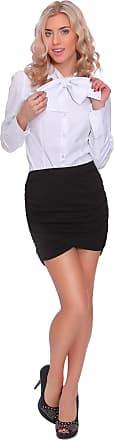 FUTURO FASHION Womens Mini Tulip Wrap Skirt Bandage Drape Ruched Party Skirt Sizes 8-14 1077 Black