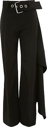 J.W.Anderson Calça com detalhe de lenço e cinto - Preto