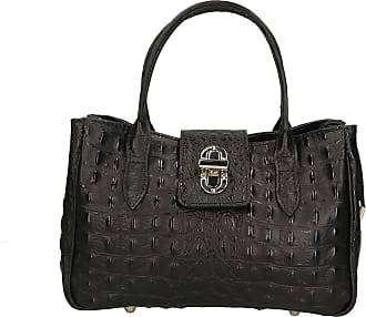 Chicca Borse Aren - Woman Handbag in Genuine Leather Made in Italy - 25x17x12 Cm