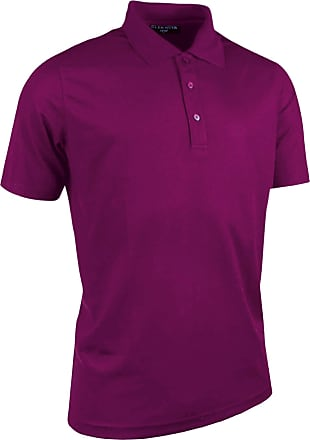 Glenmuir Mens Plain Performance Pique Short Sleeve Golf Polo Shirt (2XL) (Bordeaux)