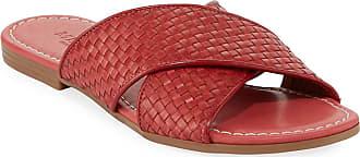 Sesto Meucci Nerada Woven Leather Flat Sandals
