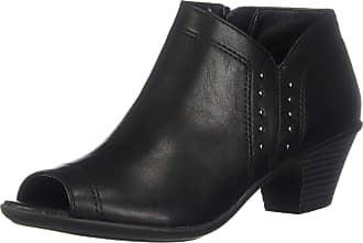 Easy Street Womens Voyage Open Toe Bootie with Mini Studs Ankle Boot, Black, 6 UK Narrow