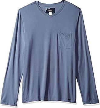 HANRO Mens River Long Sleeve Button Front Shirt