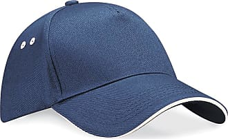 Beechfield Ultimate 5 panel contrast cap sandwich peak French Navy/ Putty