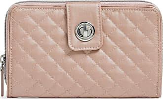 Vera Bradley Womens RFID Turnlock Wallet, Rose Quartz, One size
