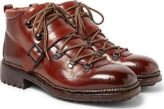 O Keeffe Alvis Polished-leather Boots - Tan