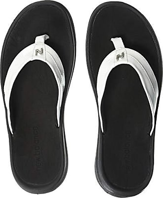 fffb64ead3dc New Balance Womens JoJo Thong Flip-Flop White Black 7 B US